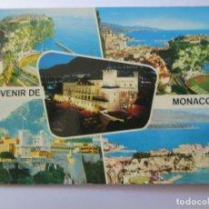 Postales: SOUVENIR DE MONACO, LE PALAIS ILLUMINÉ ROCHER STADE. Lote 98727551
