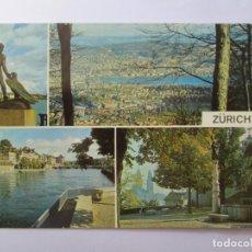 Postales: ZURICH GANYMED BLICK VOM UETLIBERG 1968. Lote 98727607
