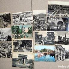 Postales: LOTE 12 POSTALES MUY ANTIGUAS FRANCIA FRANCE POST CARD VINTAGE.LOURDES PARIS SAN JUAN DE LUZ LE MANS. Lote 98811579