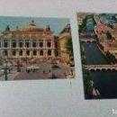 Postales: DOS POSTALES DE PARÍS DE LOS AÑOS 60, IMPRIMIDAS EN FRANCIA. Lote 99105599