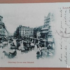 Postales: POSTAL LONDRES POST CARD LONDON CHARING CROSS AND STRAND COCHES CABALLOS ENGLAND GREAT BRITAIN . Lote 100037183