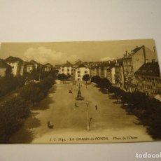 Postales: POSTAL LA CHAUX DE FONDS PLACE DE L'OUSEST. Lote 100357003