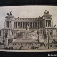 Postales: POSTAL ROMA ( ITALIA ) - MONUMENTO A VITTORIO EMANUELE II.. Lote 100574555