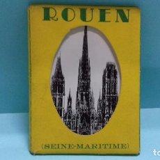 Postales: LOTE 10 VUES ROUEN (FRANCE). ED LA CIGOGNE, ROUEN. MINI POSTALES FOTOGRÁFICAS 9 X 6,5 CM.. Lote 100768387