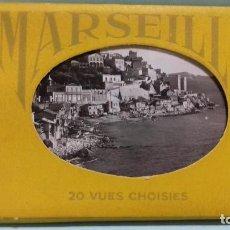 Postales: LOTE 20 VUES MARSEILLE (FRANCE) - ED. LA CIGOGNE, MARSEILLE. MINI POSTALES FOTOGRÁFICAS 9 X 6,5 CM.. Lote 100772379
