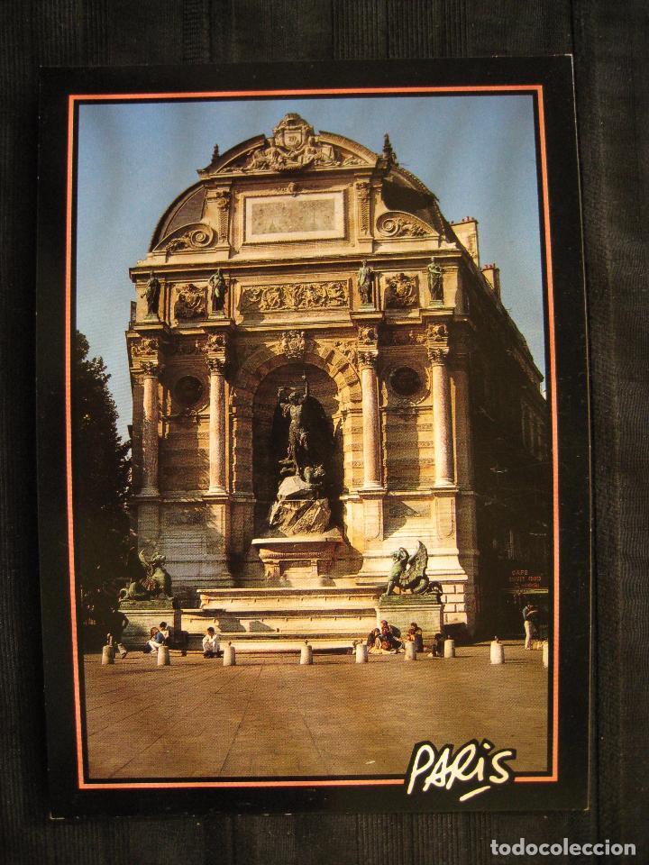 Postales: POSTAL PARIS - LA FONTAINE ST-MICHEL. - Foto 2 - 101258079