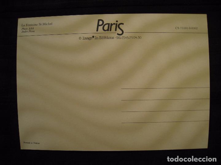 Postales: POSTAL PARIS - LA FONTAINE ST-MICHEL. - Foto 3 - 101258079
