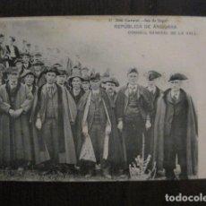 Postales: REPUBLICA DE ANDORRA-POSTAL ANTIGUA-J. CLAVEROL CONSELL GENERAL -VER REVERSO SIN DIVIDIR-(50.779). Lote 101404831