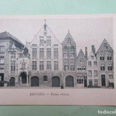 Postales: 4452 BELGIQUE BELGIE BELGIUM FLANDRE OCCIDENTALE BRUGGE BRUGES POIDS PUBLIC. Lote 101653875