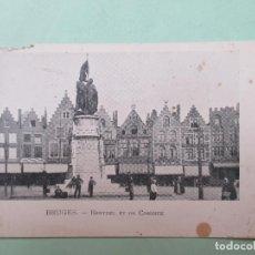 Postales: 4454 BELGIQUE BELGIE BELGIUM FLANDRE OCCIDENTALE BRUGGE BRUGES STATUE BREYDEL ET DE CONINCK. Lote 101654083