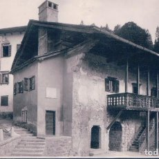 Postales: POSTAL ITALIA - PIEVE DI CADORE - CASA OVE NACQUE TIZIANO - FOTO G BURLINI. Lote 101843787