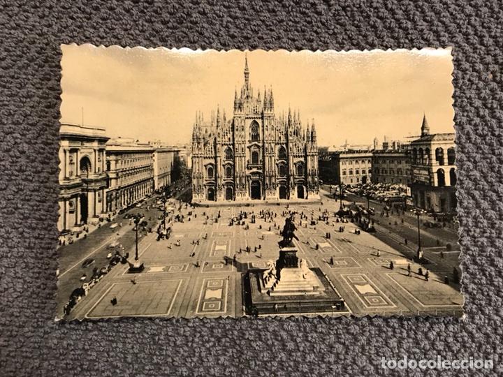 MILANO. POSTAL FOTOGRÁFICA PIAZZA DEL DUOMO (H.1940?) (Postales - Postales Extranjero - Europa)