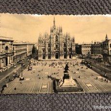 Postales: MILANO. POSTAL FOTOGRÁFICA PIAZZA DEL DUOMO (H.1940?). Lote 103657506