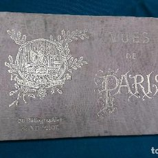 Postales: ANTIGUO LIBRO DE 36 HELIGRAFIAS DE PARIS. Lote 103714091