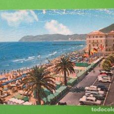 Postales: 4929 ITALIA ITALIE ITALY LIGURIA SAVONA ALASSIO RIVIERA DEI FIORI LA SPIAGGIA PIAZZA PARTIGIANI 1966. Lote 103985047