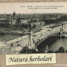 Postales: POSTAL PARIS - 4934 -LE SEINE ET LE PONT ALEXANDRE III - NO CIRCULADA. Lote 104278611