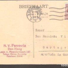Postales: TARJETA POSTAL COMERCIAL HOLANDA-CARTAGENA,1925.. Lote 104331359