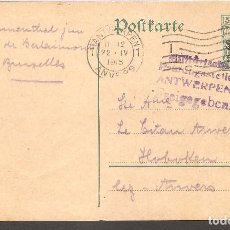 Postales: TARJETA POSTAL BELGICA, OCUPACION ALEMANA,1915.. Lote 104331411