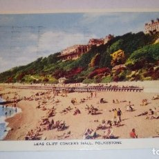 Postales: POSTAL DE INGLATERRA, 1954, LEAS CLIFF CONCERT HALL, FOLKSTONE, KENT, POST CARD 113. Lote 104423503
