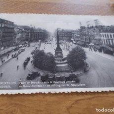 Postales: BRUXELLES. PLACE DE BROUCKERE VERS LE BOULEVARD ANSPACH.. CIRCULADA. Lote 106747627