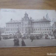 Postales: ANVERS. ANTWERPEN L´HOTEL DE VILLE. CIRCULADA 1913. Lote 106902115