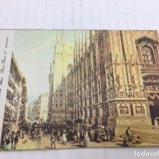 Postales: POSTAL SIN CIRCULAR DE MILAN - LUIGI BARTEZZATI , MILANO - PIAZZA DEL DUOMO. Lote 106907503