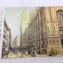 Postales: POSTAL SIN CIRCULAR DE MILAN - LUIGI BARTEZZATI , MILANO - PIAZZA DEL DUOMO. Lote 106907547