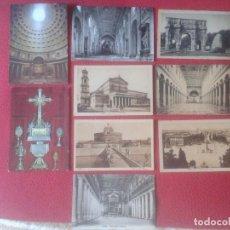 Postales: LOTE DE 9 POSTALES DE ROMA ROME ITALIA ITALY POSTCARDS POST CARDS. POSTAL VER FOTO/S Y DESCRIPCIÓN I. Lote 107358339