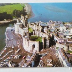 Postales: POSTAL DE INGLATERRA, CAERNARVON CASTLE FROM THE AIR. 1986. DRG. Lote 107970323