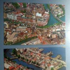 Postales: LOTE 2 POSTALES HOLANDA AMSTERDAM VISTAS AEREAS. Lote 108837750