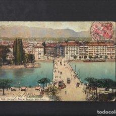 Postales: ANTIGUA POSTAL DE GENÈVE. GINEBRA. SUIZA.. Lote 109146743