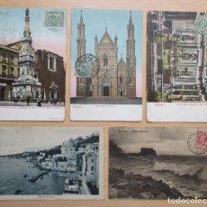 Postales: LOTE DE 5 TARJETAS POSTALES ANTIGUAS DE NAPOLI. Lote 109622871