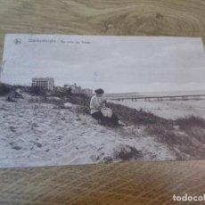 Postales: BLANKENBERGHE. VUE PRISE DES DUNES CIRCULADA 1927. Lote 110050035