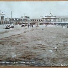 Postales: POSTAL CAGLIARI ROTONDA DEL LIDO CIRCULADA 1934 ANIMADA. Lote 110183915