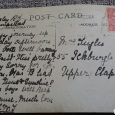 Postales: POST CARD FROM AUGUST 1920 - WITH A USED 1 PENNY RED KING GEORGE V ( 1913 - 1924). Lote 110243703