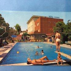 Postales: POSTAL HOTEL LUGANO. VENECIA. ITALIA. AÑOS 60.. Lote 110782058
