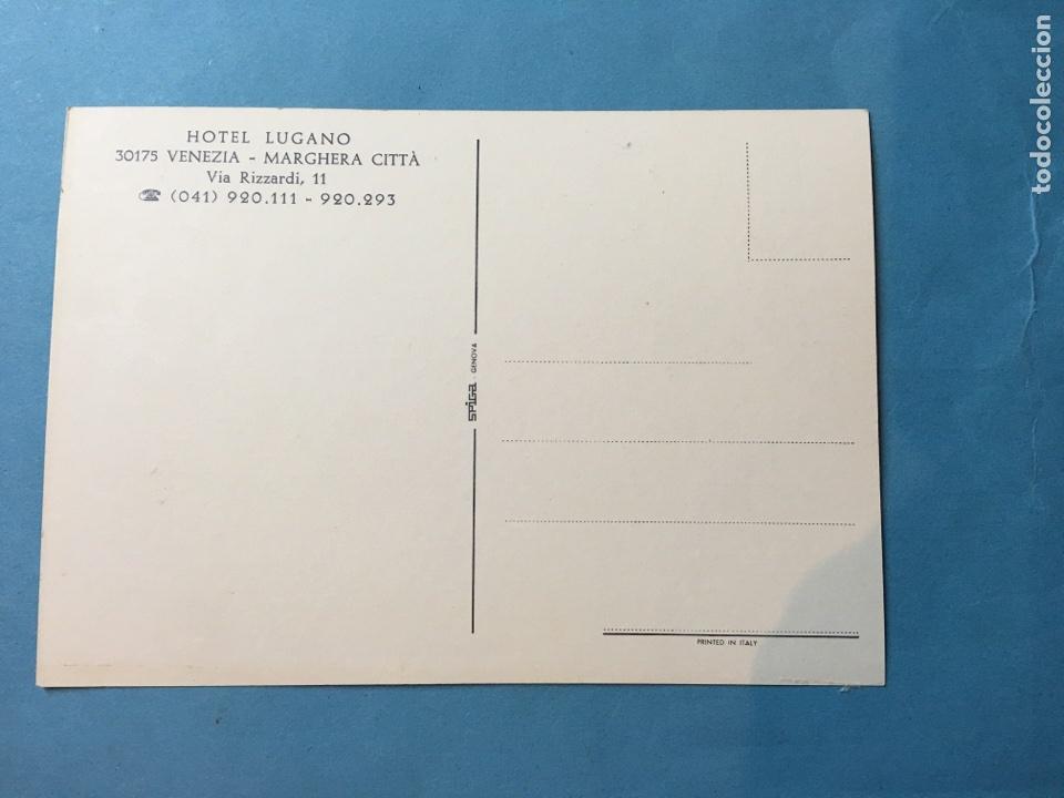 Postales: Postal Hotel Lugano. Venecia. Italia. Años 60. - Foto 2 - 110782058