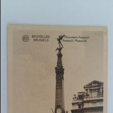 Postales: MUY ANTIGUA POSTAL. BRUXELLES MONUMENT ANSPACH. Lote 111087891