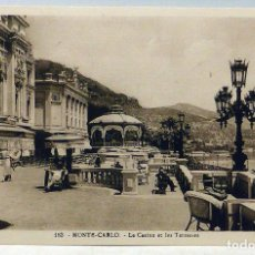 Postales: 5 POSTALES MONTECARLO MONTE CARLO CASINO JARDINS TERRASSES SALLE SCHMIDTT LA CIGOGNE SIN CIRCULAR. Lote 111883355