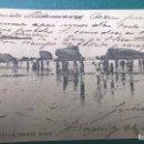 Postales: POSTAL BIARRITZ -LA GRANDE PLAGE 1904. Lote 112116331