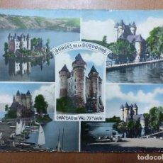 Postales: POSTAL GOGES DE LA DORDOGNE BARRAGE DE BORT LES ORGUES CASTILLO FORTALEZA SIGLO XV. FRANCIA. Lote 112507615