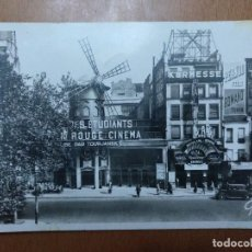 Postales: POSTAL PARIS ET SES MERVEILLES MOULIN ROUGE CIRCULADA 1934 14 X 9 CM (APROX). Lote 112507791