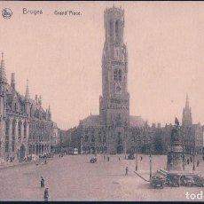 Postales: POSTAL BELGICA - BRUGES - GRAND'PLACE - NELS. Lote 113153523