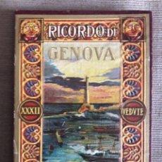 Postales: RICORDO DI GENOVA / 11'5 X 16'5 CMS. Lote 113395387