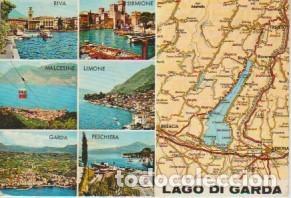 Lago Di Garda Italia Mapa Buy Old Postcards From Europe At