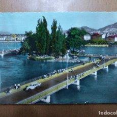 Postales: POSTAL Nº 7145 GINEBRA (GENEVE) L'ILLE J.L. ROUSSEAU ET LE PONT DES BERGUES SIN CIRCULAR 14 X 9 CM. Lote 113679727