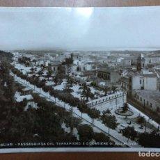 Postales: POSTAL Nº 17 CAGLIARI-PASSEGGIATA DEL TERRAPIENO E QUARTIERE DI VILLANOVA CIRCULADA 1940. Lote 113679927