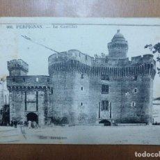Postales: POSTAL Nº 606 PERPIGNAN LE CASTILLET CAFE DE LA POSTE EDICION NAVARRO CIRCULADA 1918. Lote 113680551