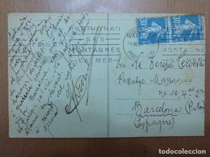 Postales: POSTAL Nº 606 PERPIGNAN LE CASTILLET CAFE DE LA POSTE EDICION NAVARRO CIRCULADA 1918 - Foto 2 - 113680551