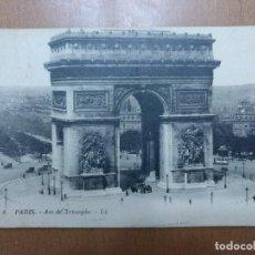 Postales: POSTAL Nº 8 PARIS-ARCO DE TRIUNFO CIRCULADA AÑOS 20 14 X 9 CM (APROX). Lote 113680635